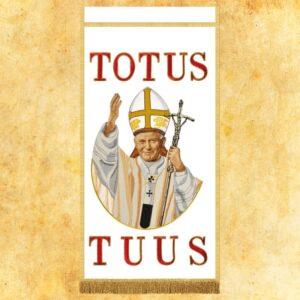 Ozdoba liturgiczna haftowana z wizerunkiem Jana Pawła II