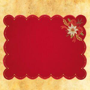 Serwetka czerwona na Boże Narodzenie