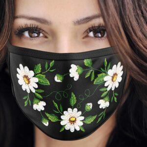 """Maska ochronna haftowana wzór """"E"""""""