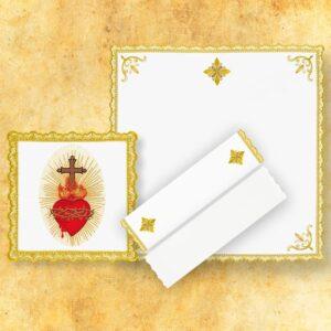 """Bielizna kielichowa """"Gold"""" """"Serce Jezusa"""""""